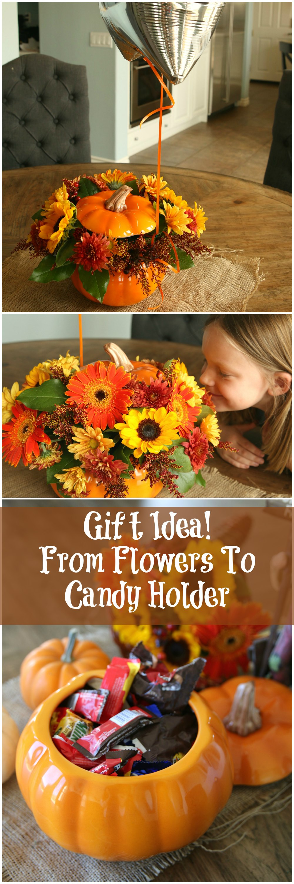 pumpkin flower gift idea