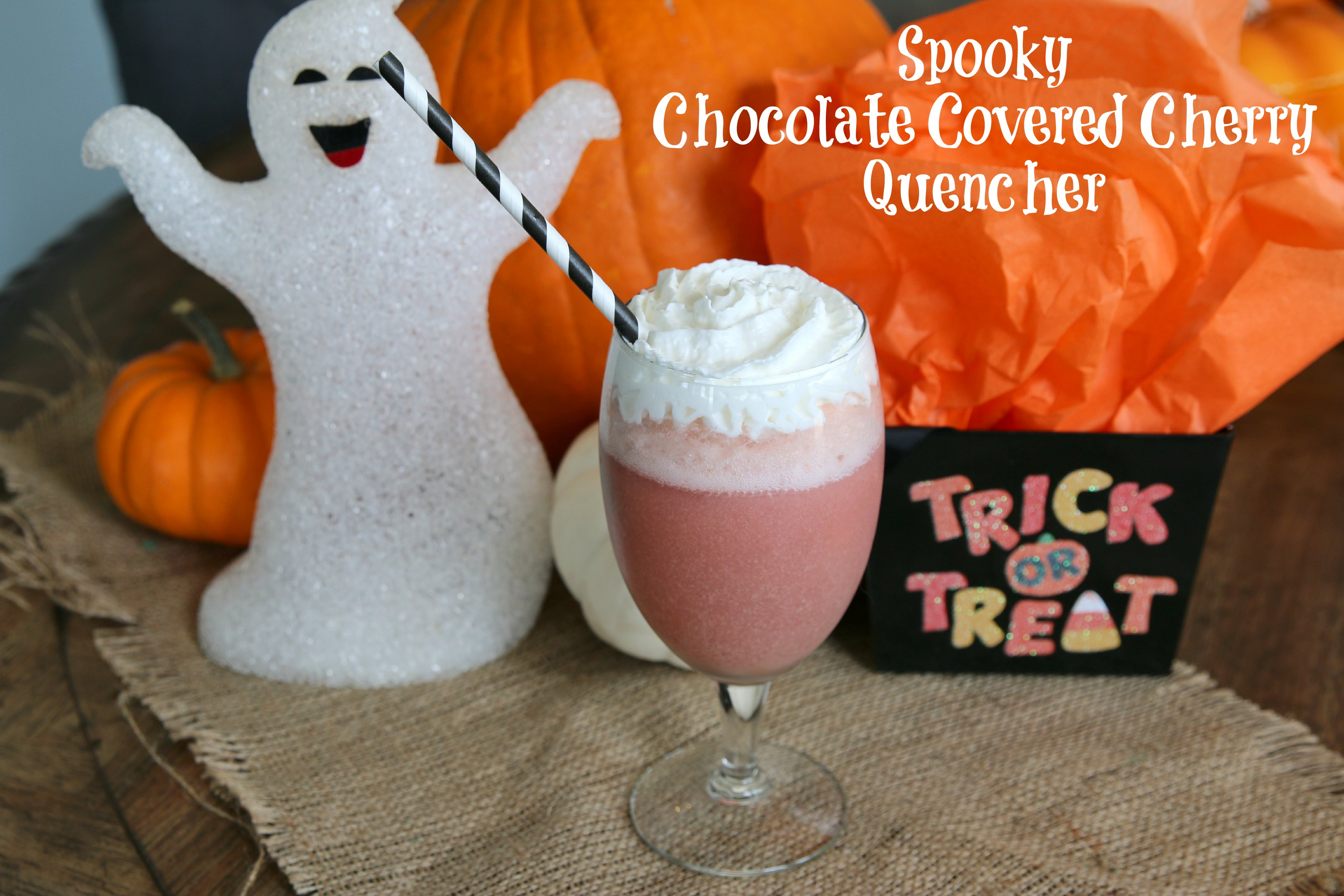 spooky chocolate covered cherry quencher