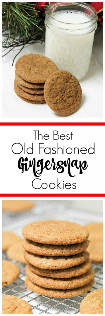 The Best Old Fashioned Gingersnap Cookies