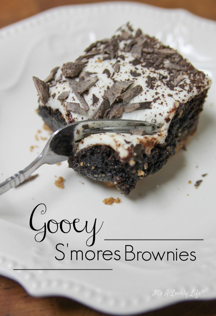 Gooey Smores Brownie