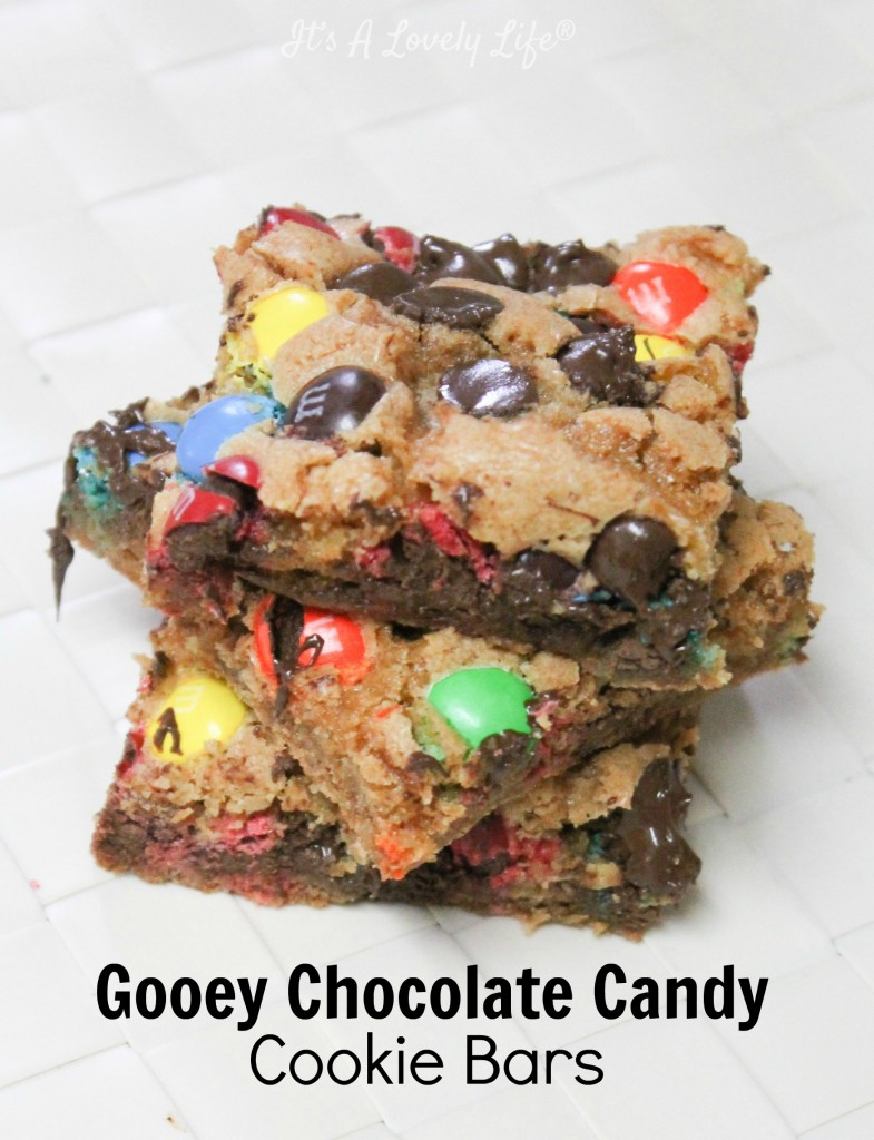 M&M Chocolate Chip Cookie Bars-4