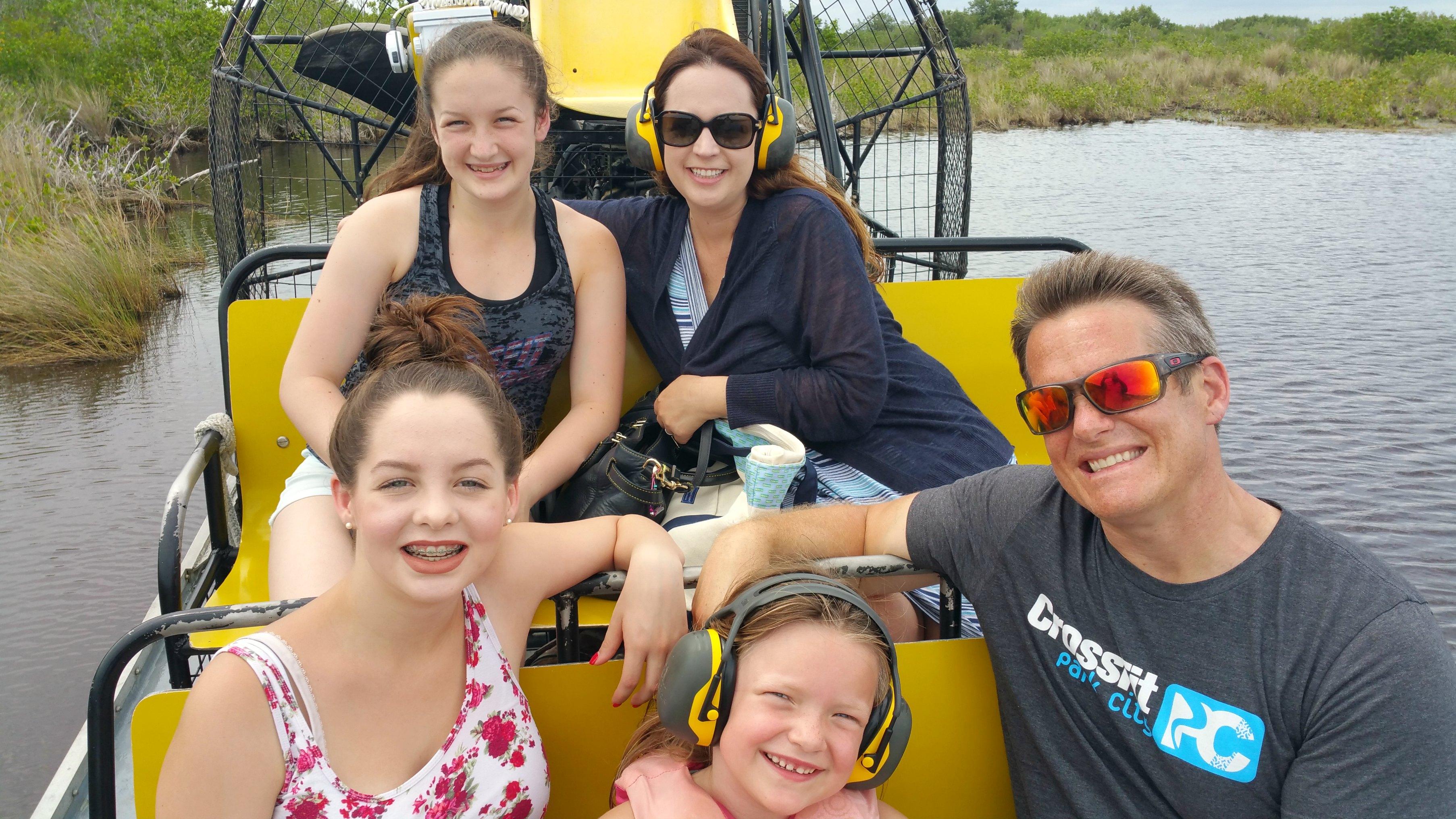 Florida everglades alligator tour
