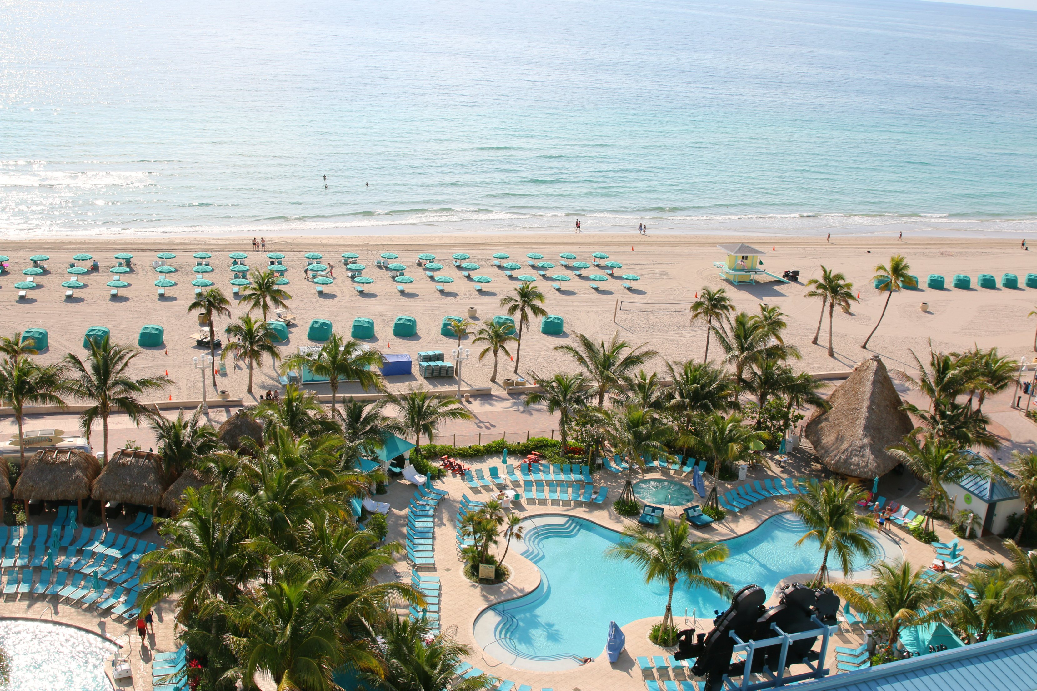 beach and pools