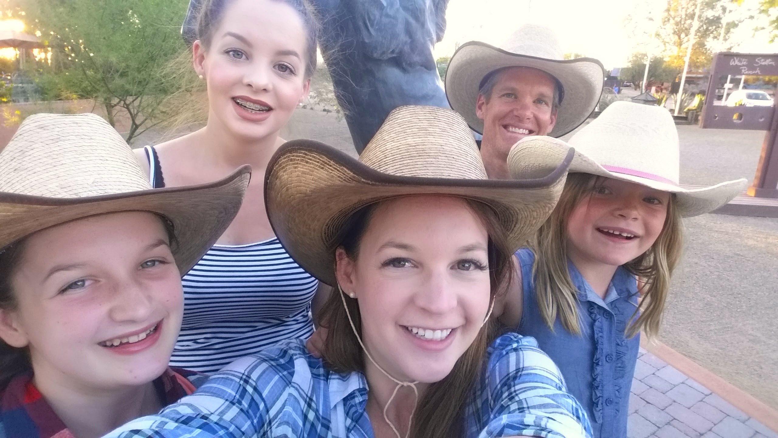 dude ranch selfie