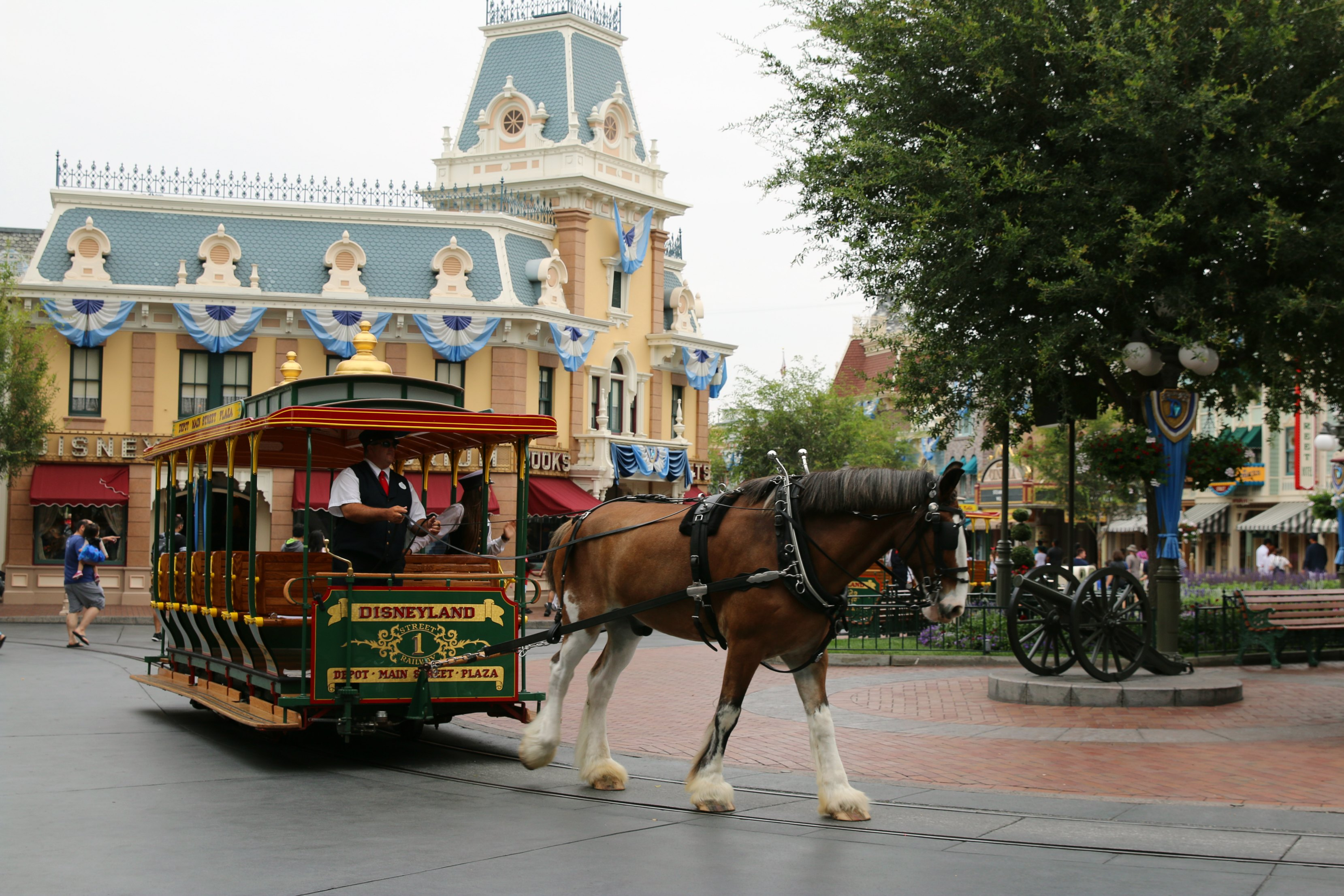 main street horses disneyland