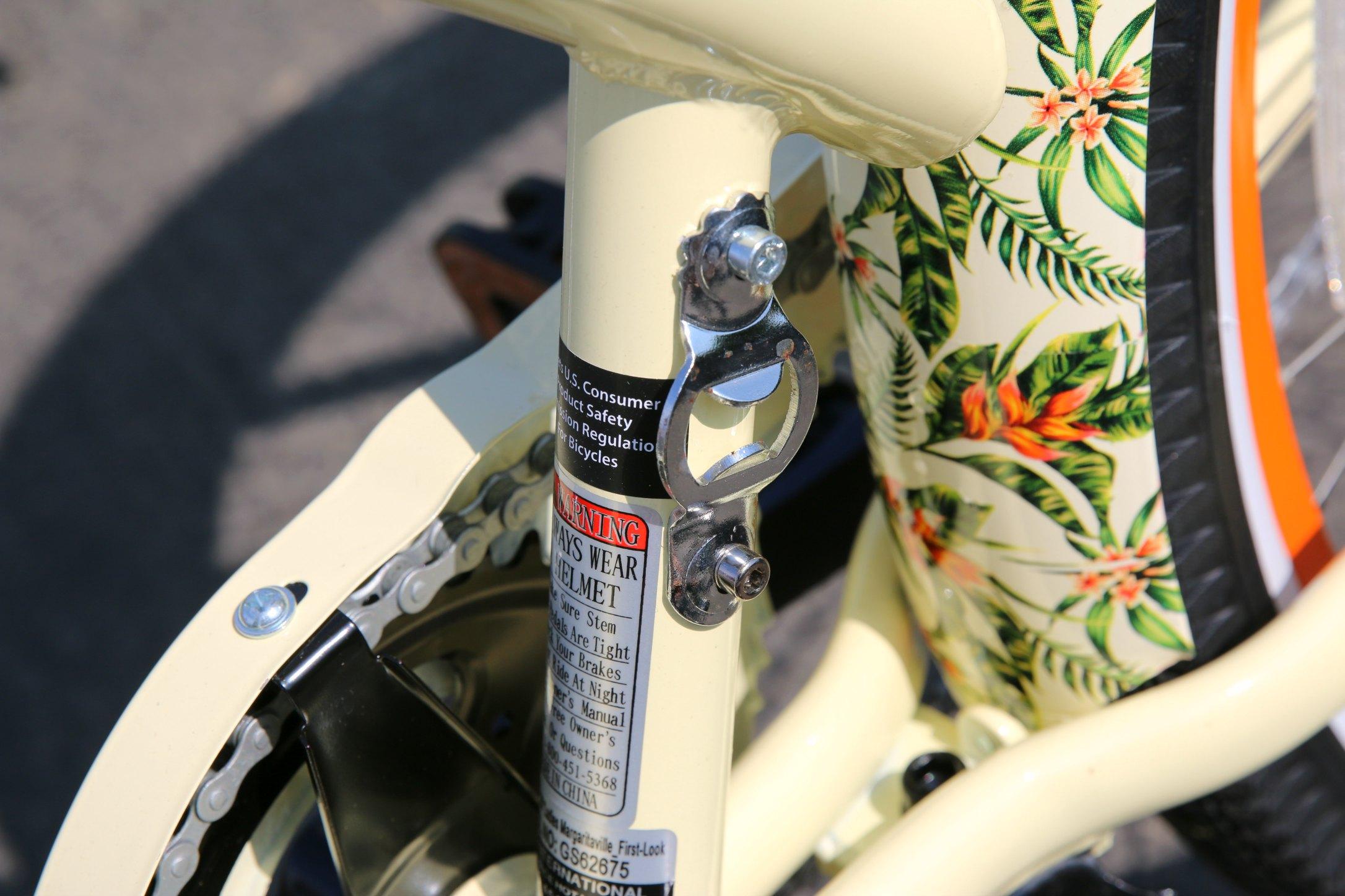 bottle cap opener on bike