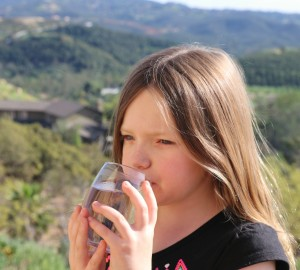 drinking clean water