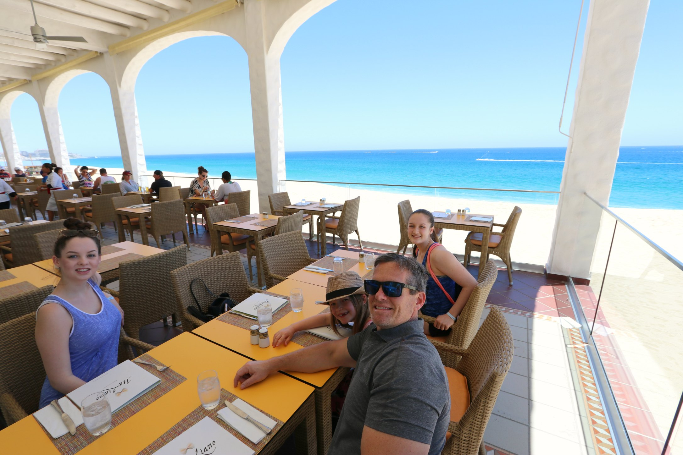 lunch overlooking the ocean cabo