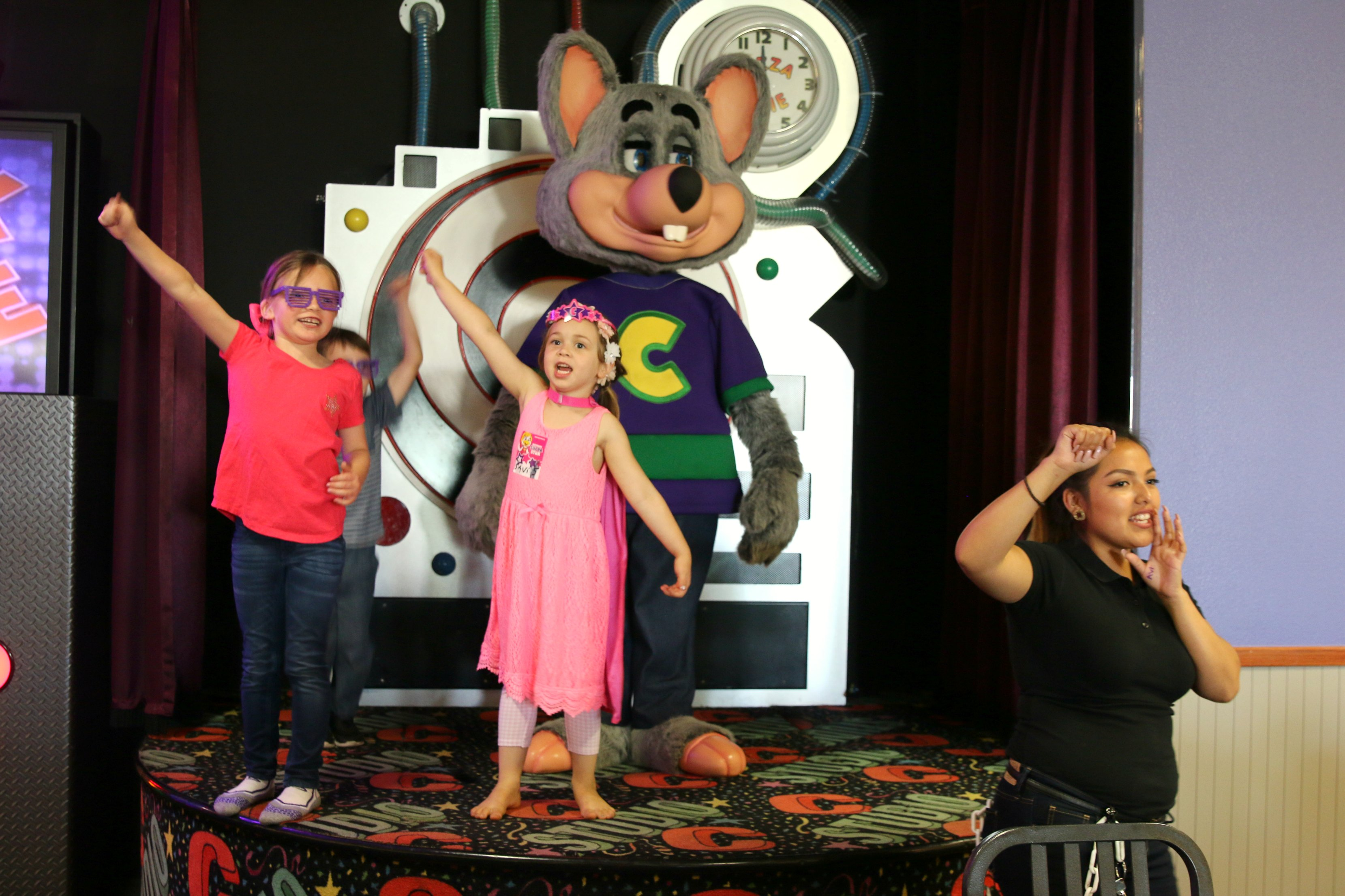 vip chuck e cheese birthday party