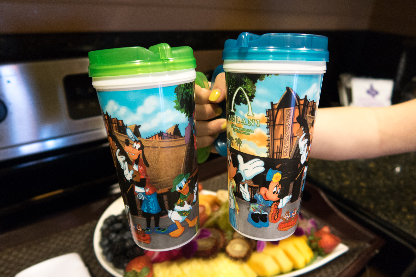 Refillable beverage mugs at Disney's Aulani