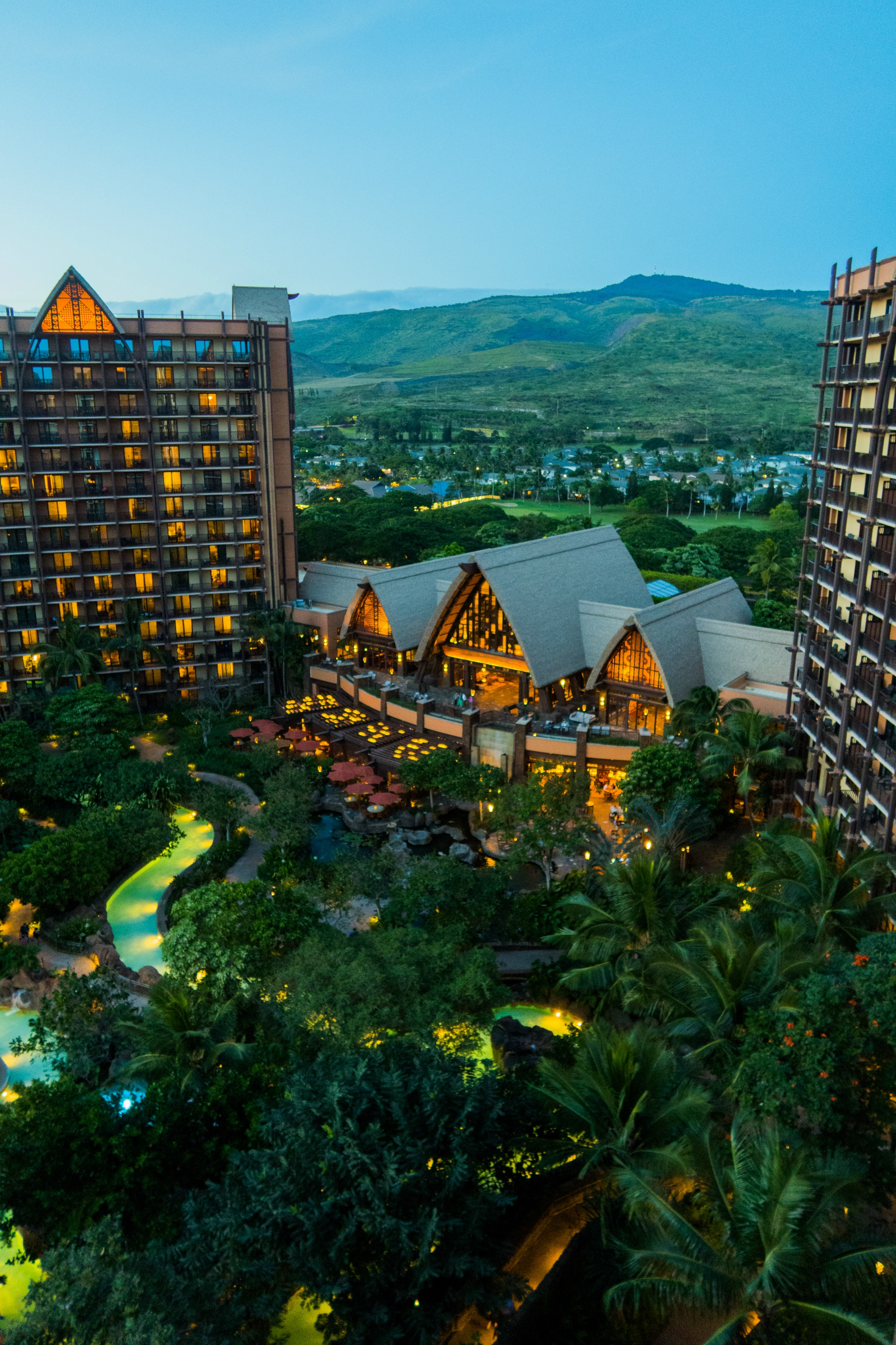 Balcony view of Aulani