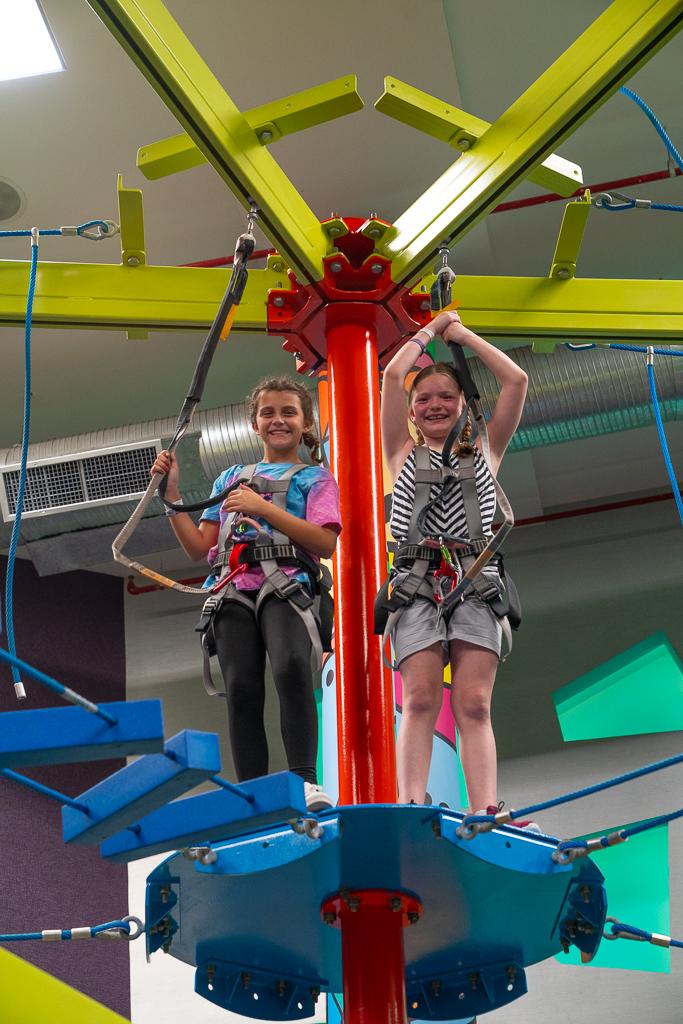 Two girls enjoying the Playroom at the Grand at Moon Palace Cancun