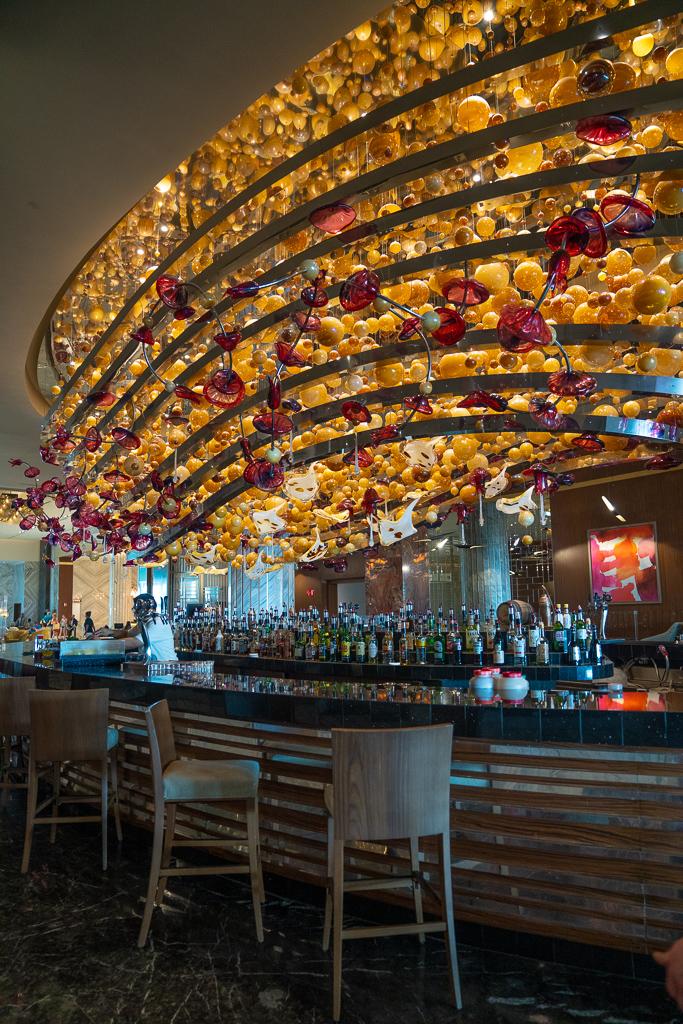 Lobby bar at the Grand at Moon Palace Cancun