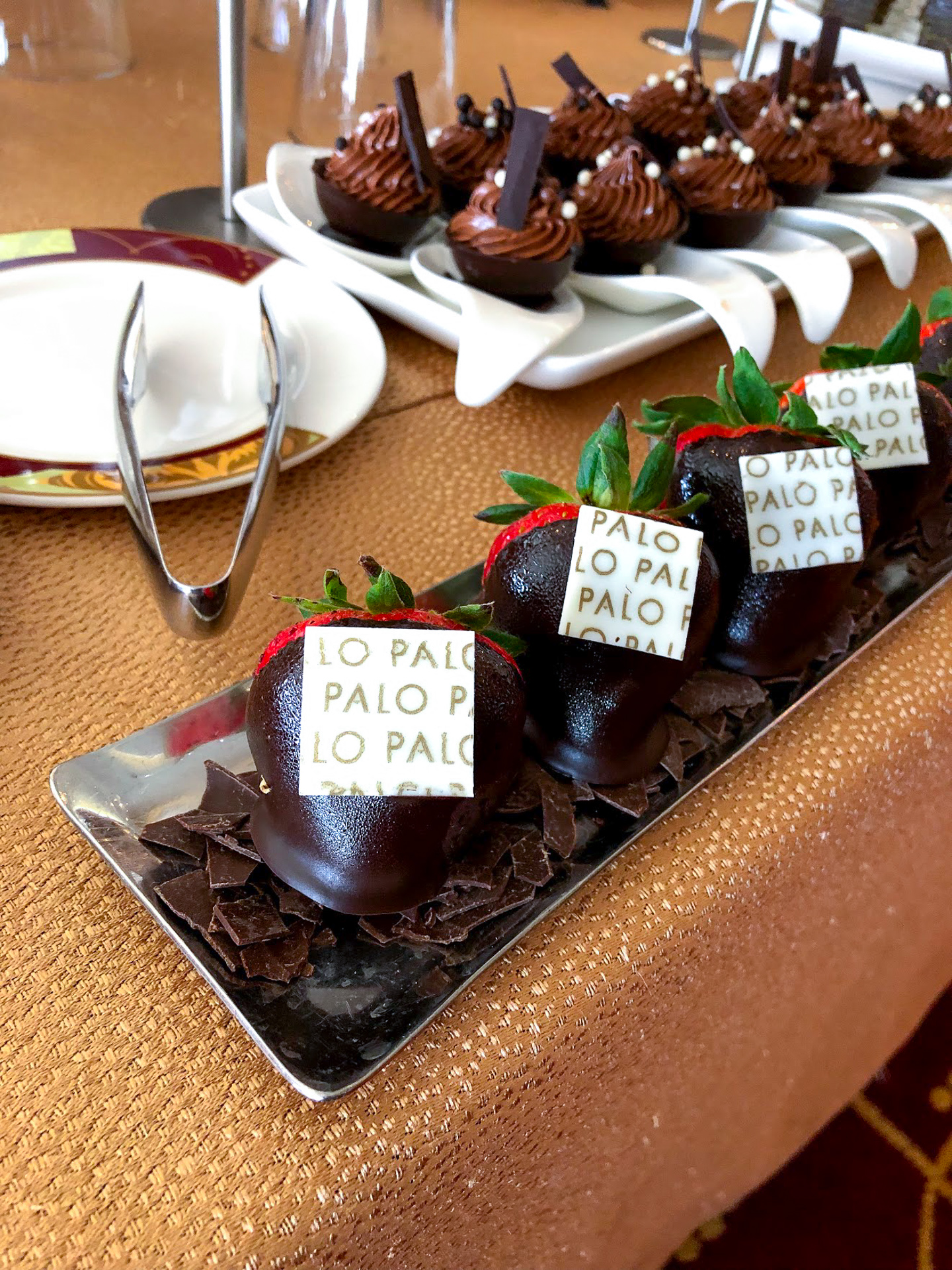 Desserts at the Palo Brunch buffet on the Disney Dream