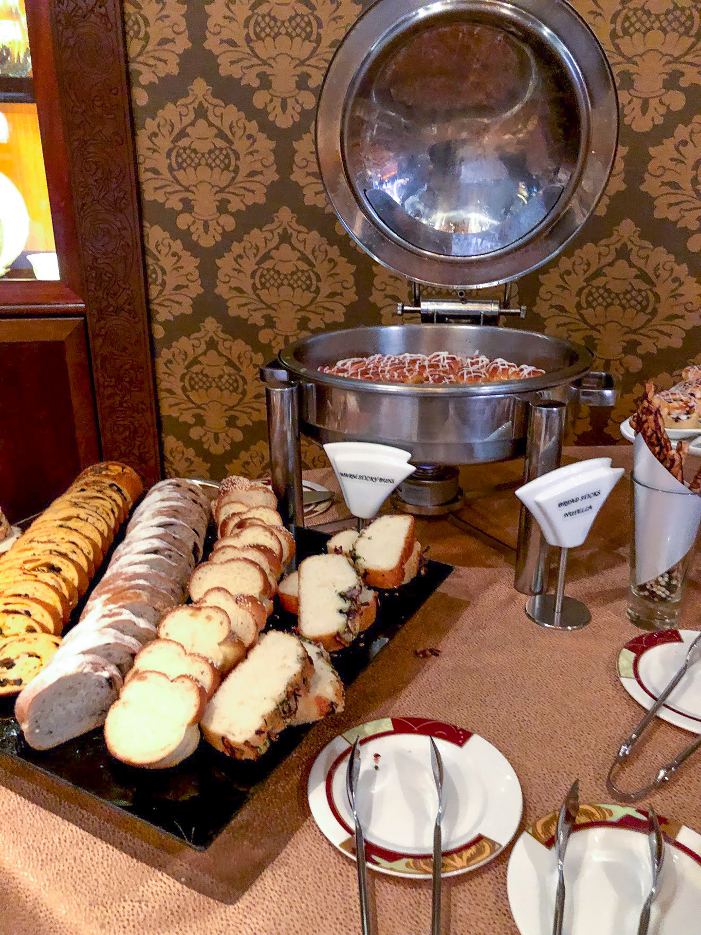 Breakfast pastries at the Palo Brunch buffet on the Disney Dream