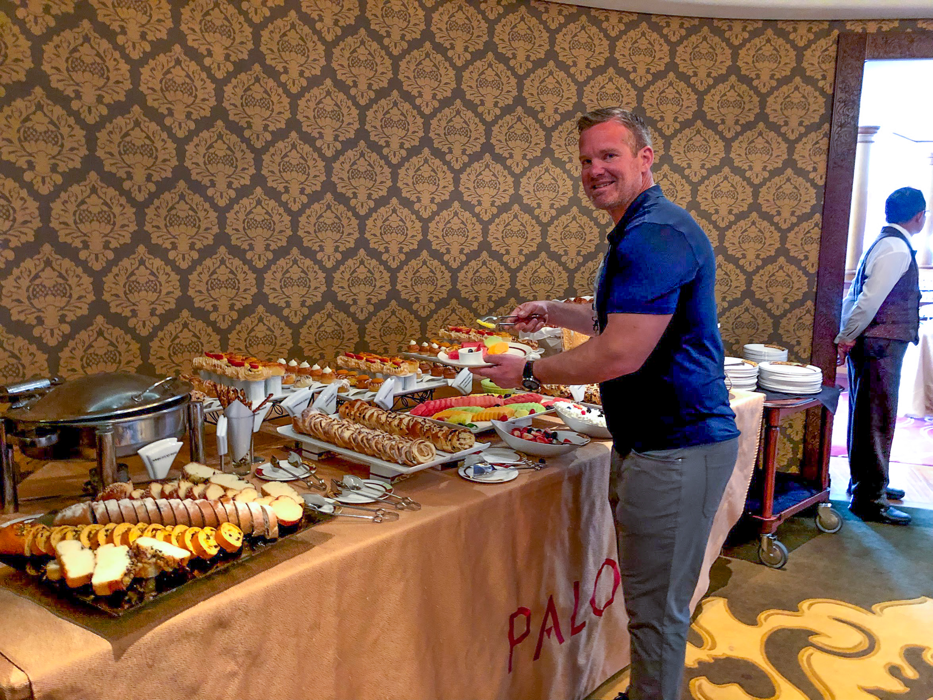 Man at the Palo Brunch buffet on the Disney Dream