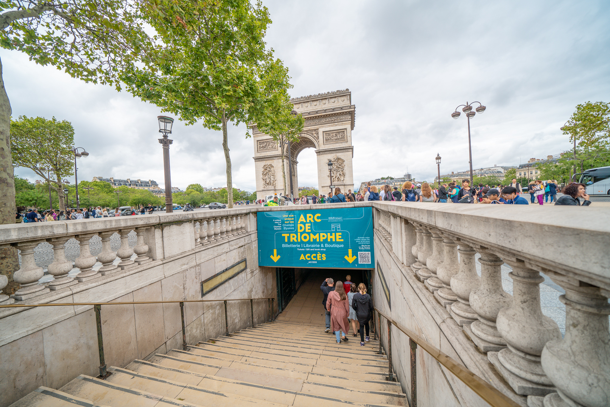 The Arc de Triomphe passage way