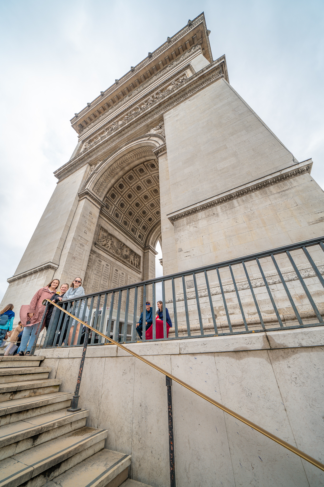 The Arc de Triomphe island