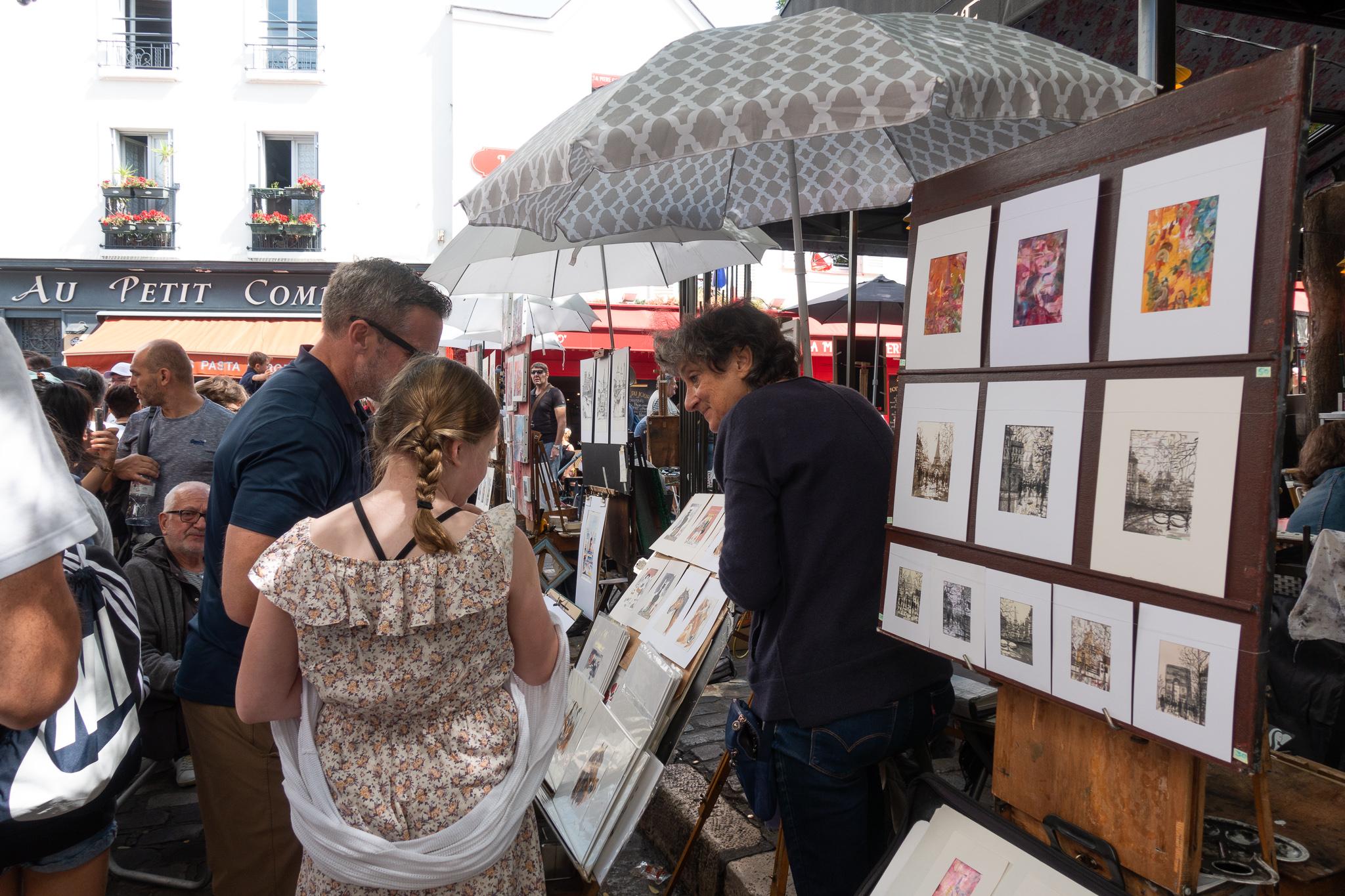 Art shopping at Montmartre