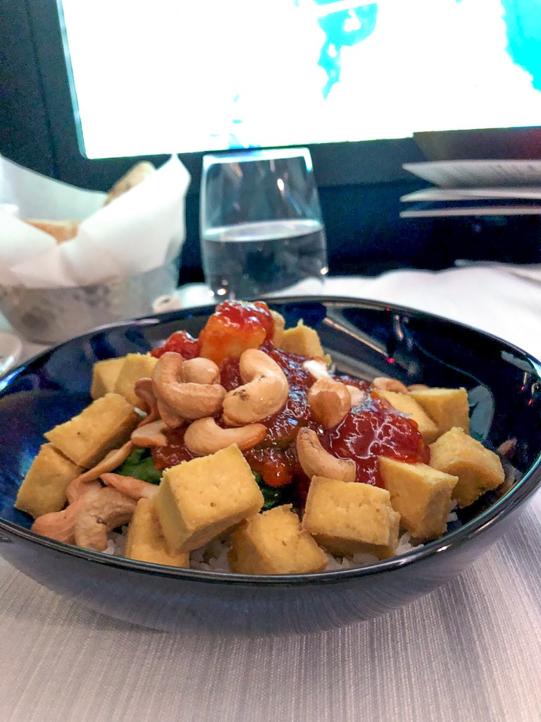 WestJet Business Class Vegan Meal