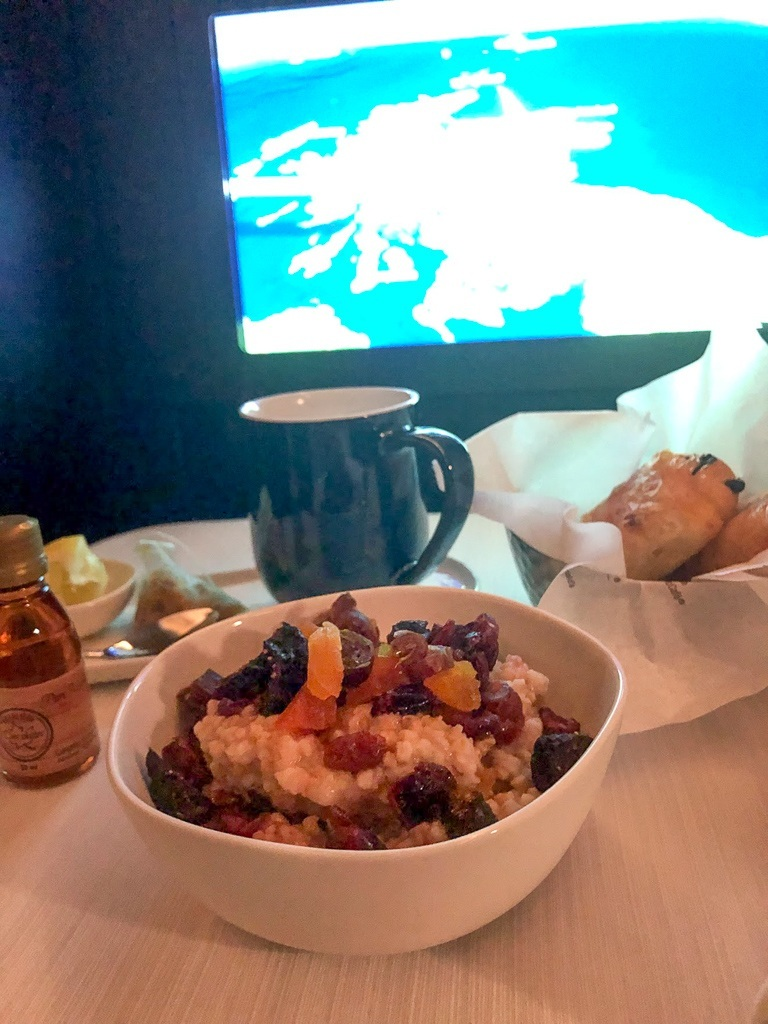 WestJet Business Class Vegan Breakfast