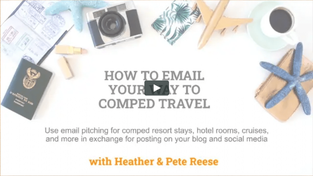 How to email your way to comped travel on demand video training