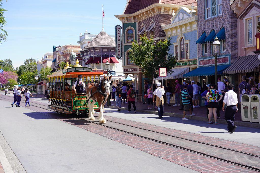 Main Street USA Disneyland at 25% capacity.