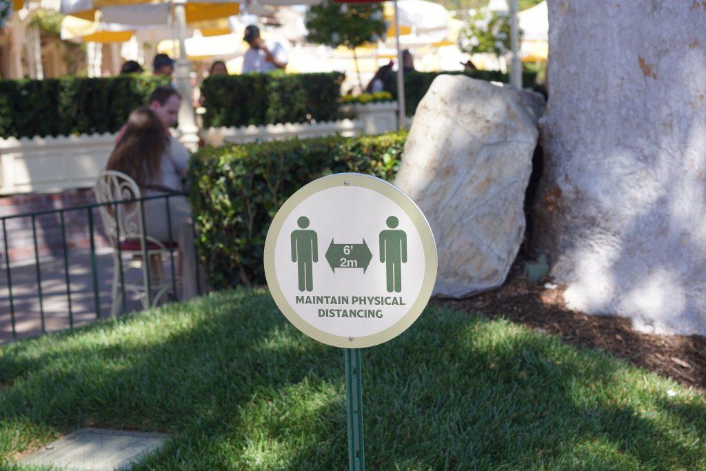 Physical distancing at Disneyland