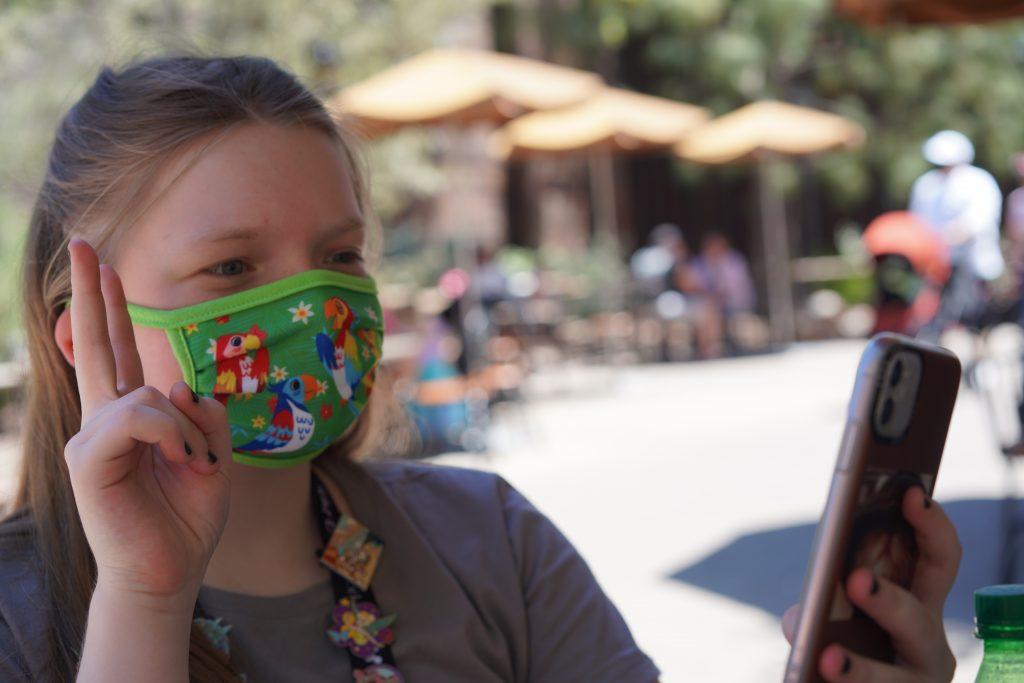 Disney-themed cloth masks.