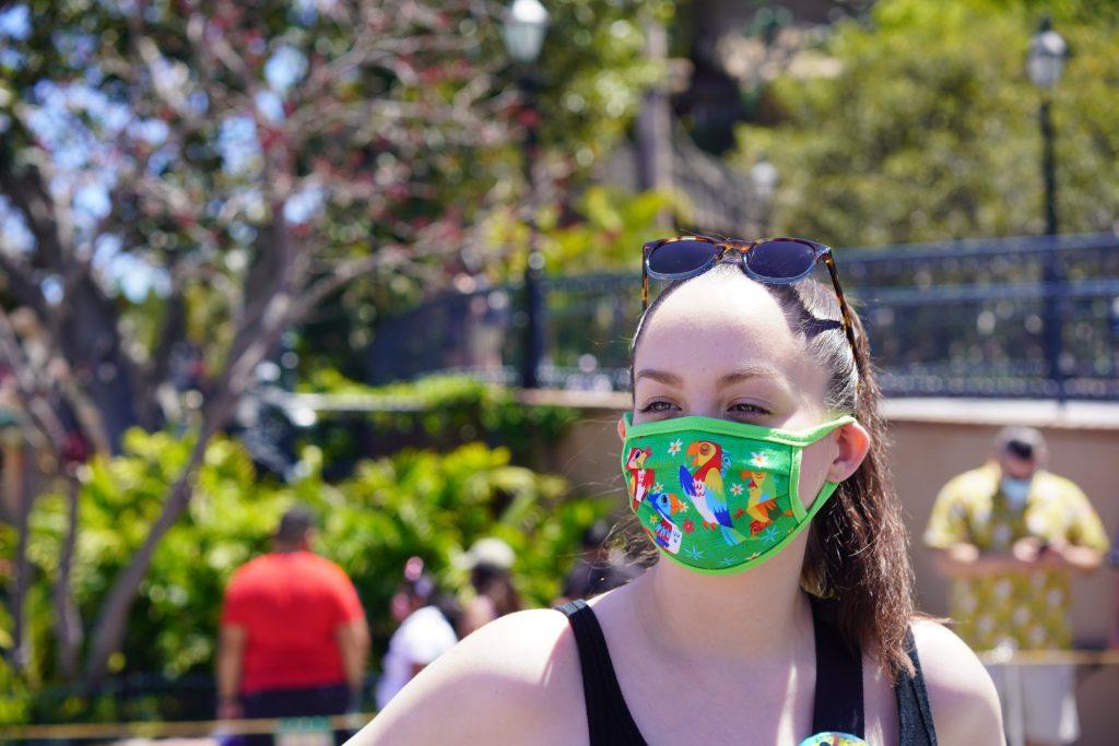 Disneyland face coverings.