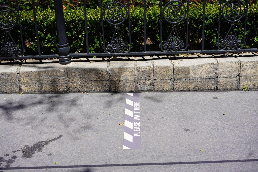 Disneyland line markers.