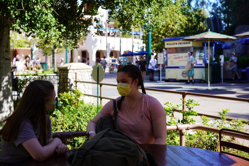 Disney California Adventure designated dining area