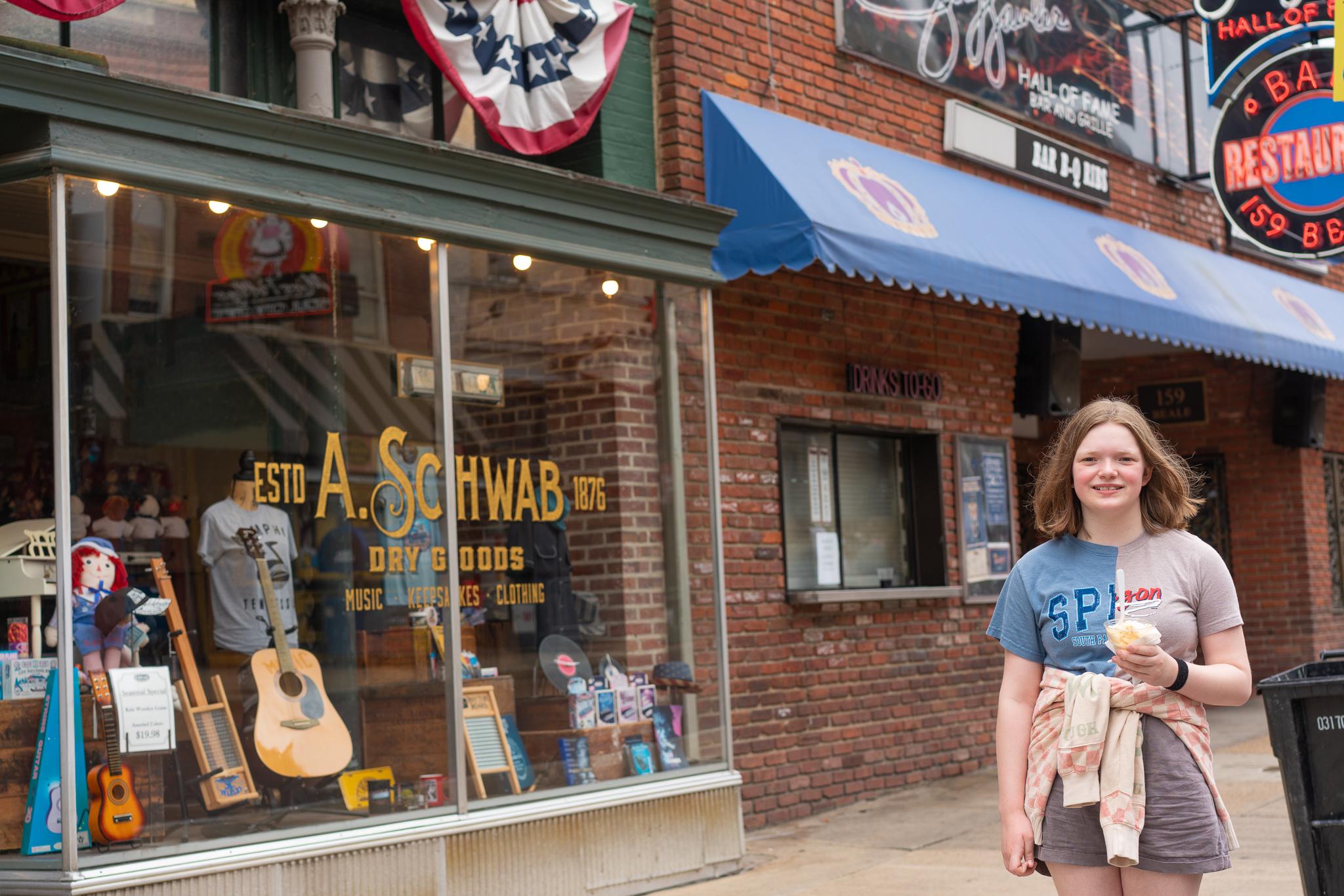 Ice cream at Beale Street Memphis, Tennessee